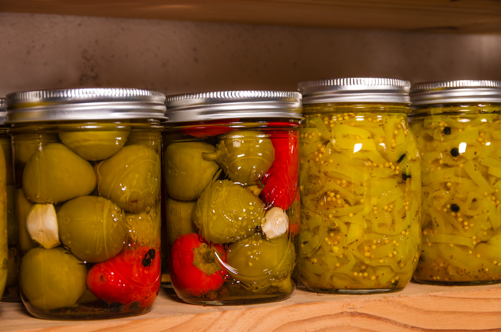 Pickled Peppers in a jar