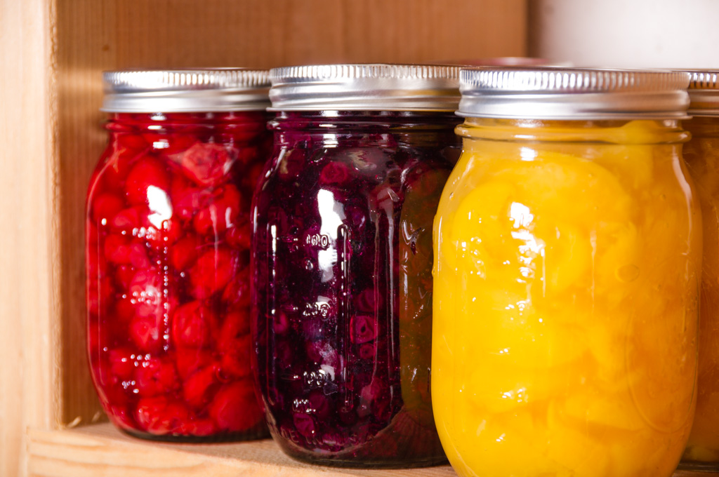 Jars of Pie Filling