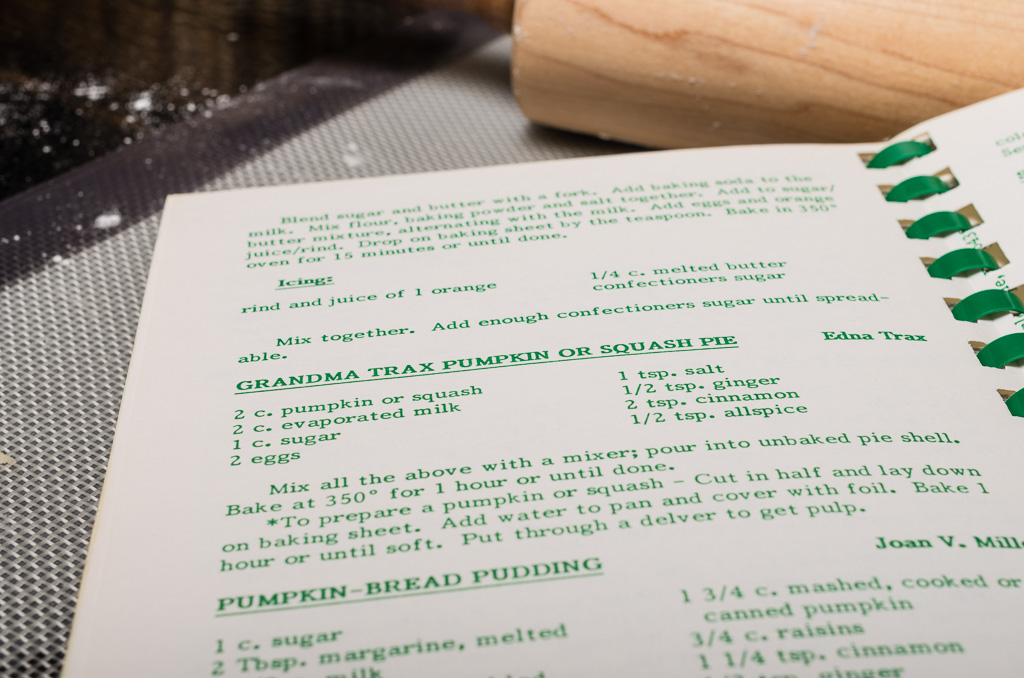 Trax Farms Cookbook Pumpkin Pie Recipe