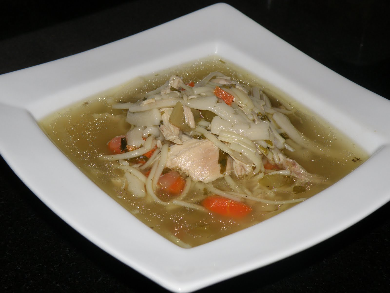 Double Noodle Chicken Soup