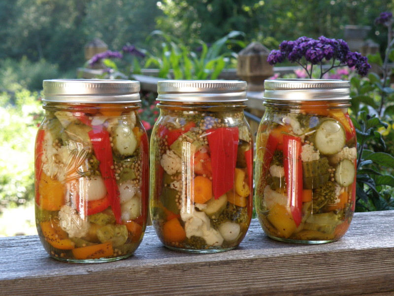 Summer Pickled Vegetables