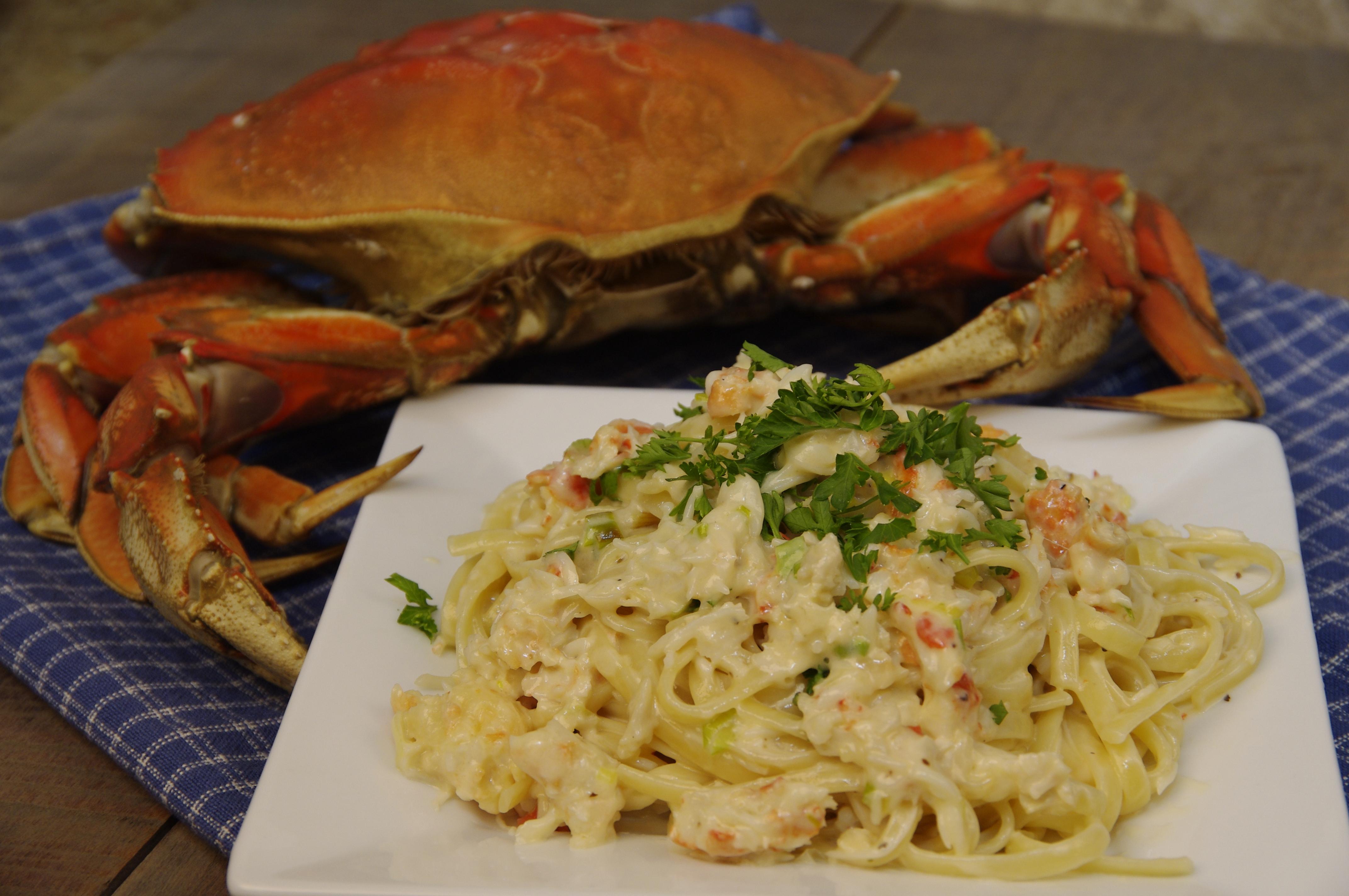 Oregon Dungeness Crab Alfredo