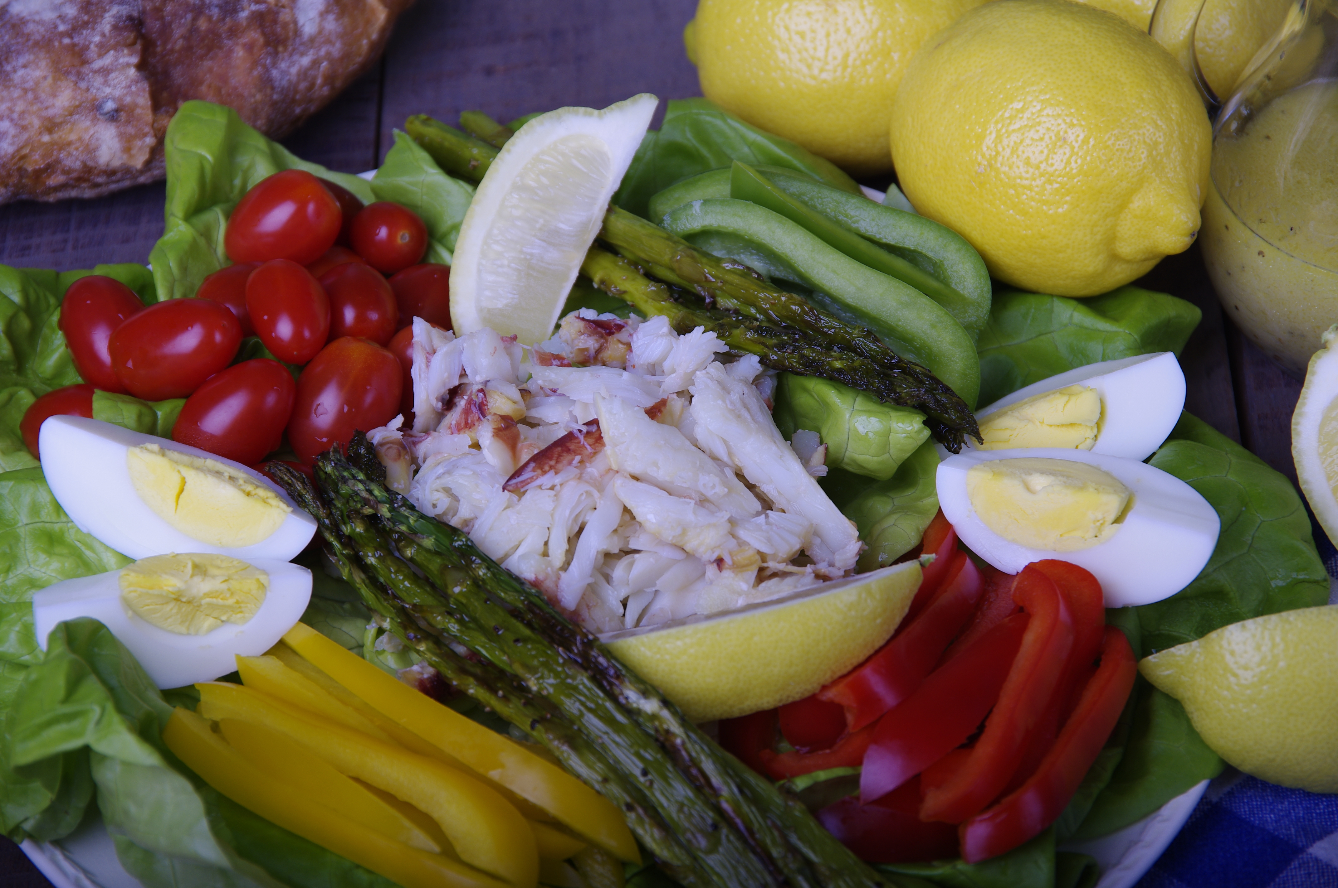 Fresh Dungeness Crab Salad with Grilled Asparagus