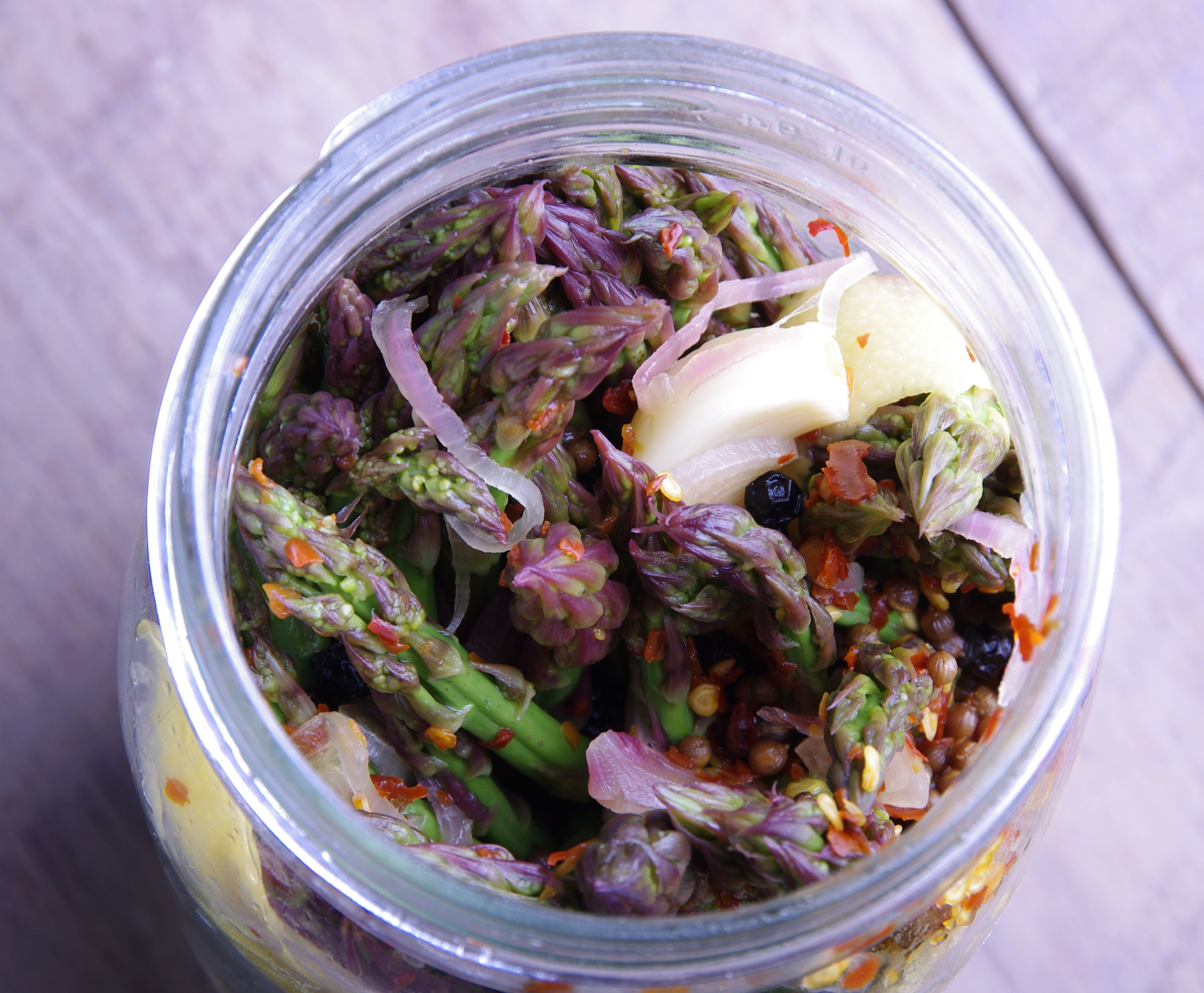Lemon-Chile Pickled Asparagus