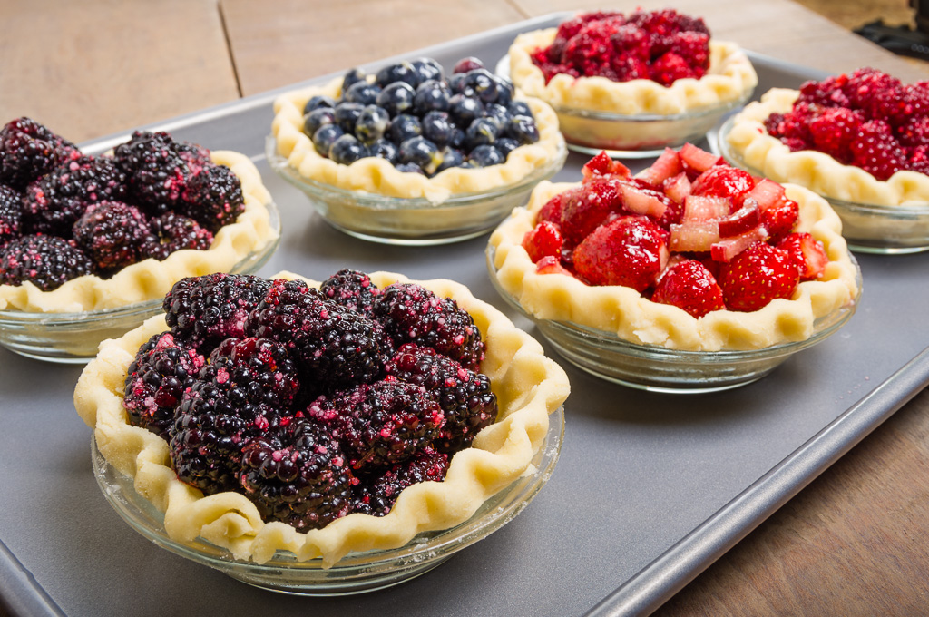 Mini Oregon Berry Pies