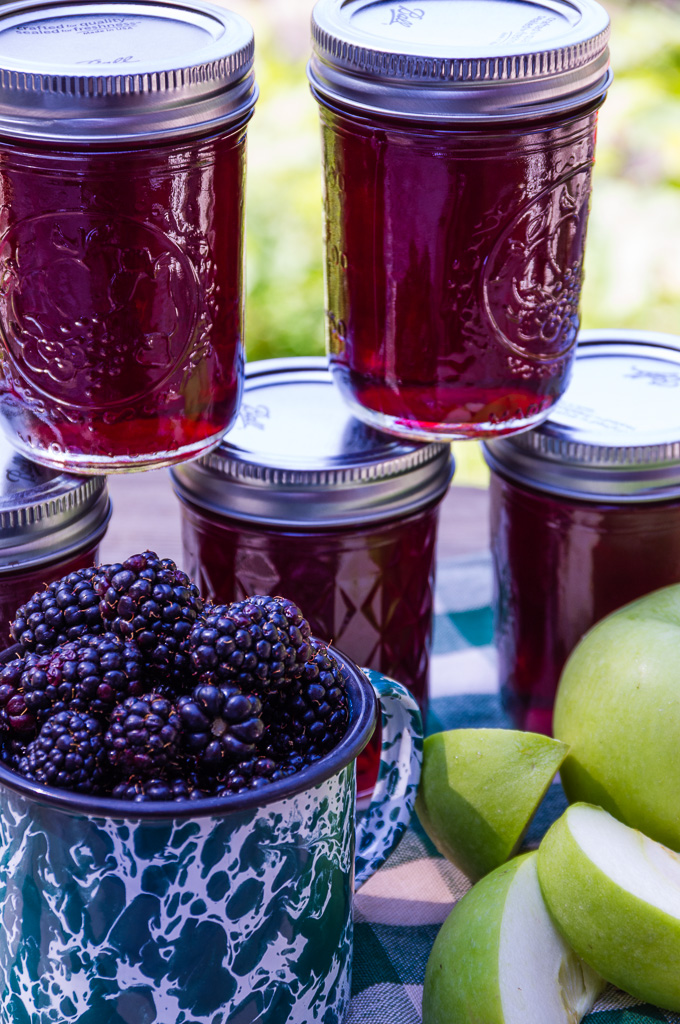 Fresh Blackberry Apple Jelly