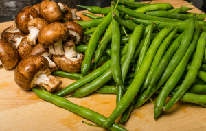 Mushrooms & green beans