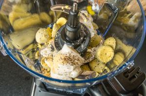 Egg yolks in Ninja food processor