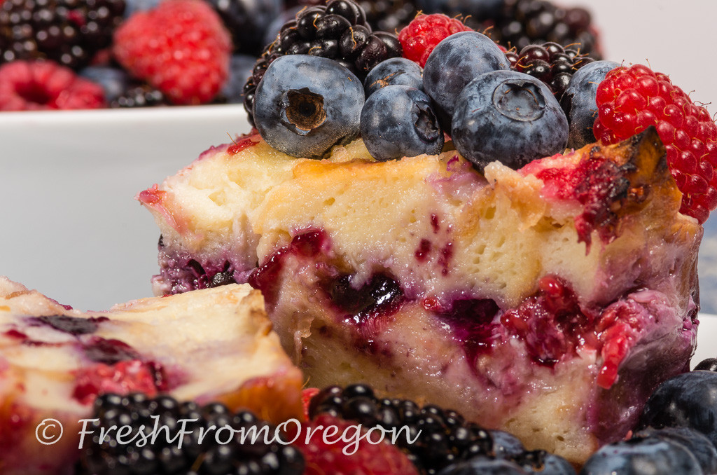 Mixed Berry Bread Pudding