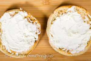 Bays Englis Muffin with cream cheese