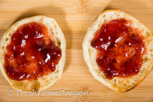 Bays English Muffin with strawberry jam