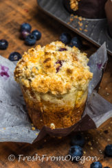 Over the Top Blueberry Muffins