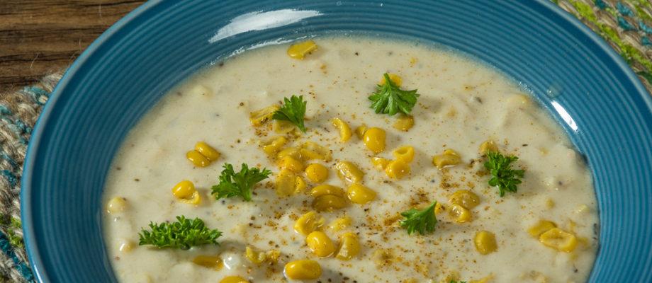 Summer Corn & Crab Chowder