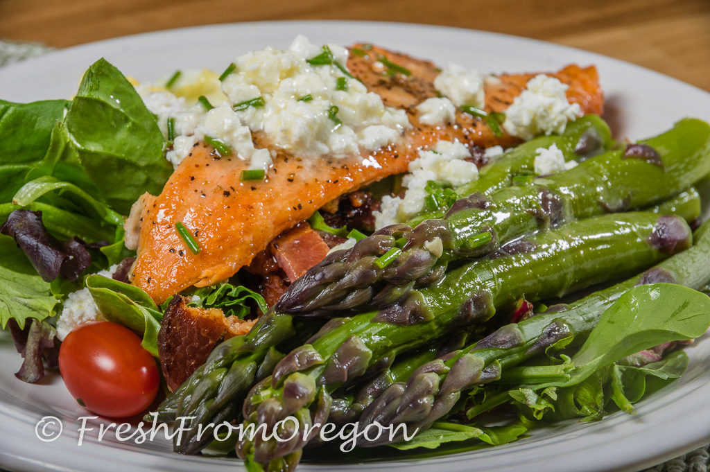asparagus salmon salad